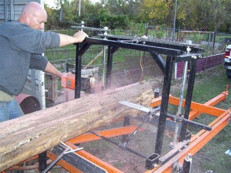 home built portable chainsaw mill