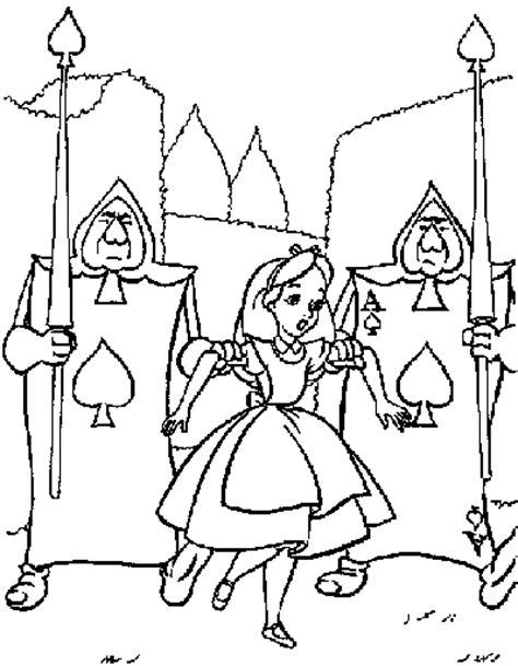 printable walt disney alice wonderland coloring books