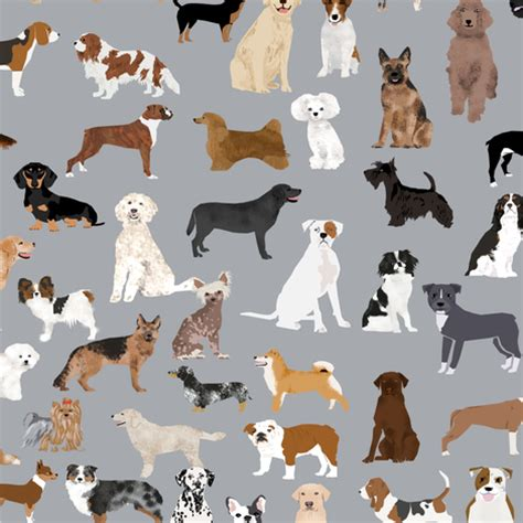 puppies by design dogs grey fabric design best dogs grey fabric dogs breed fabric print