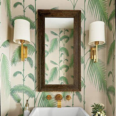 tropical bathroom tropical tailored beautiful wallpaper ideas