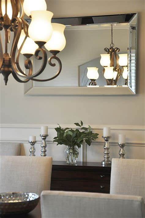 Silver Dining Room Mirrors Reflection Wall Mirror Above Megan Honey We Re Home