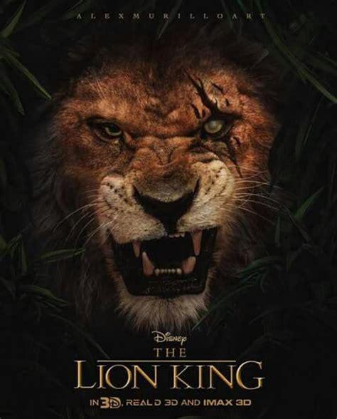 film lion vs lion scar fanart the lion king live action scar the lion
