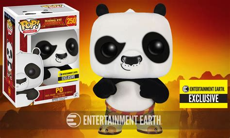 Murah Funko Pop Kung Fu Panda Po With Hat Figure karate chop this fuzzy exclusive kung fu panda pop vinyl figure into your collection