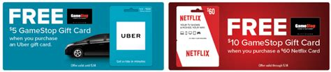 Groupon Uber Gift Card - gamestop purchase 60 netflix giftcard get 10 gamestop or purchase uber any