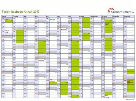Kalender 2017 Zum Ferien Sachsen Anhalt 2017 Ferienkalender Zum Ausdrucken