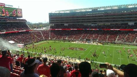 santa clara section 8 club level seats section 213 picture of levi s stadium
