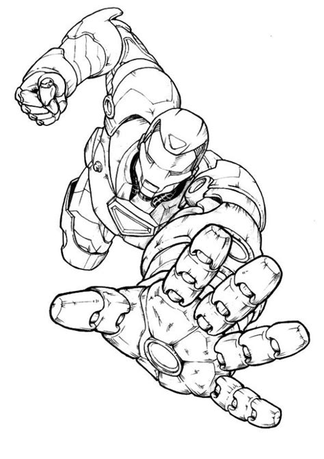 tony stark free colouring pages