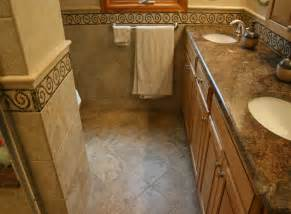 Bathroom Floor Ideas by Guest Bathroom Tile Accents Home Design Scrappy
