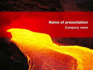 volcano lava presentation template for powerpoint and