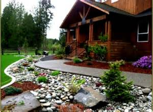 best rock landscaping front yard design ideas for country
