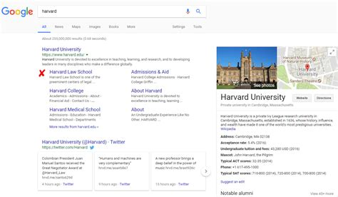 Harvard Search Has Removed Search Box From The Serp