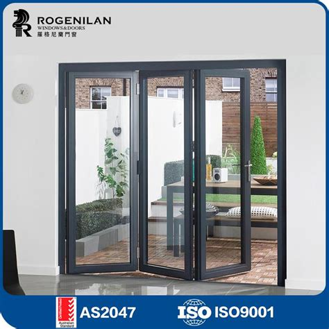 Folding Glass Doors Exterior Cost Rogenilan 75 As2047 Australian Standard Aluminium Exterior Folding Glass Patio Doors Prices