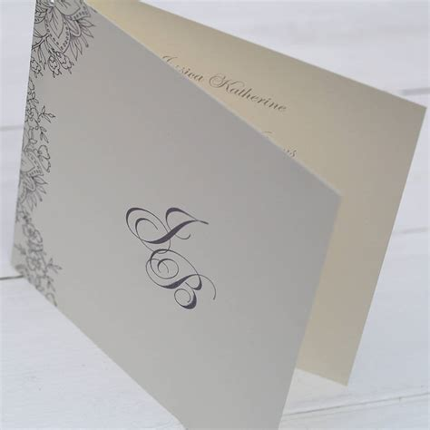 folding book invitations for a vintage lace folded wedding invitation by beautiful day