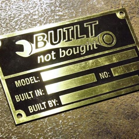 Built Not Bought built not bought custom vin name plates tags world wide