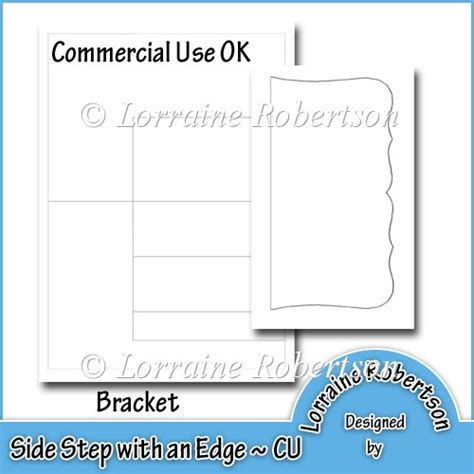 bracket card template side step with an edge template bracket 163 1 80