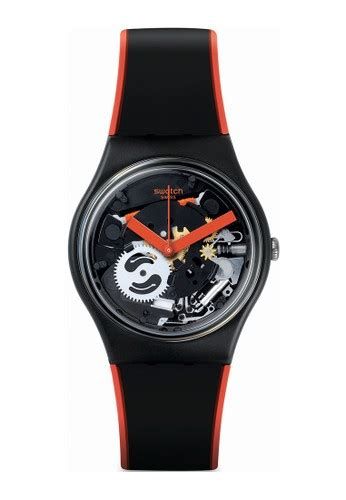 Jam Tangan Swatch Rubber jual swatch swatch frame jam tangan black orange
