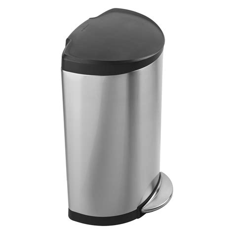 Simplehuman Kitchen Trash Can by Simplehuman 174 Semi Plastic Lid Step Trash Can Brushed