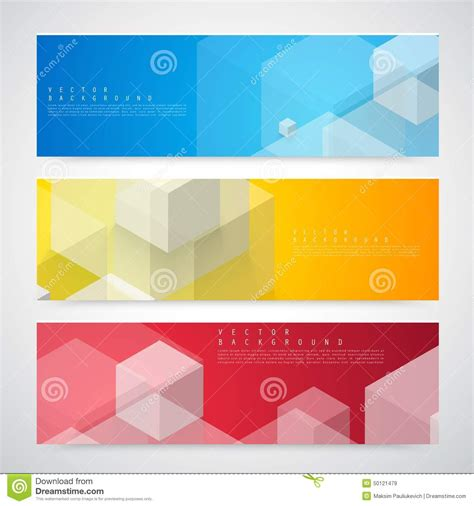 Flyer Template Header Design Stock Vector Illustration Of Label Colors 50121479 Header Template