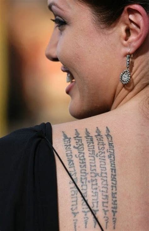 angelina jolie tattoo designs getting a tattoo yantra style what you need to know