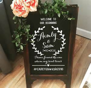 Floor Easel Stand by Welcome Wedding Chalk Board Sign Wedding Chalk Board