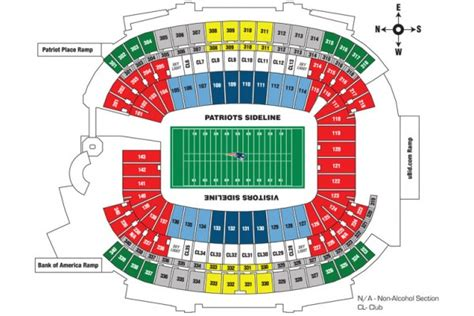 estadio azteca detailed stadium seating chart nfl mexico new patriots travel packages tickets bowl