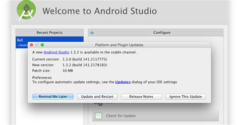 how to update android studio android studio 1 3 2 へのアップデート アプリ開発覚書
