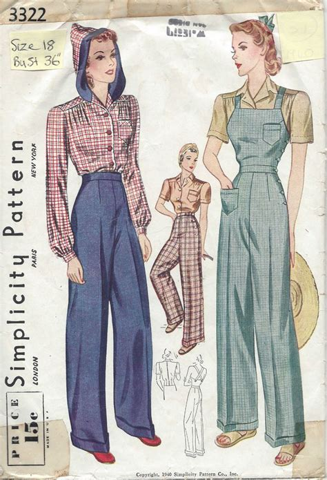 vintage overall pattern 83 best images about 20s 30s 40s world war ii on