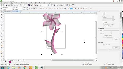 corel draw x7 learning how to learn interactive blend tool beginner coreldraw