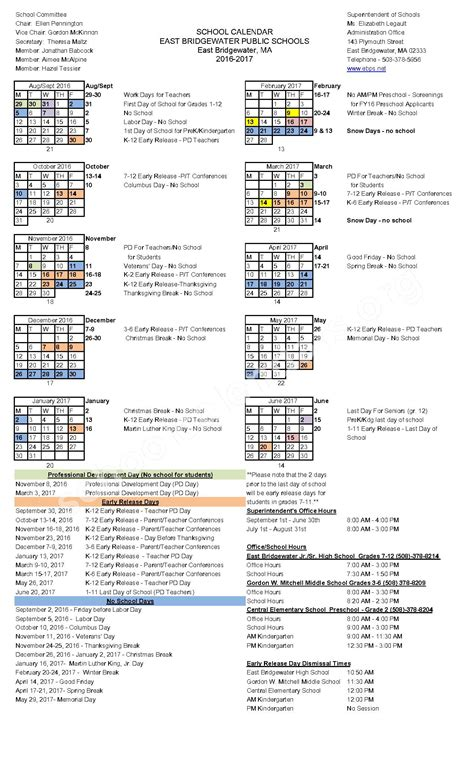 plymouth school district calendar east bridgewater schools calendars east
