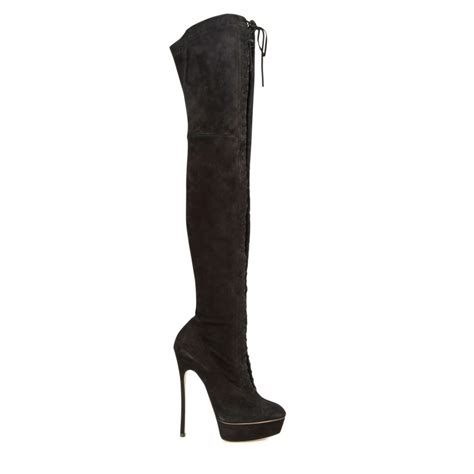 casadei the knee suede pearly blade heel boots in