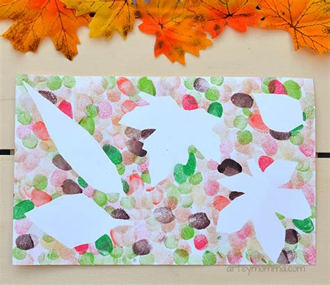 leaf craft projects leaf projects for using fingerprints artsy momma