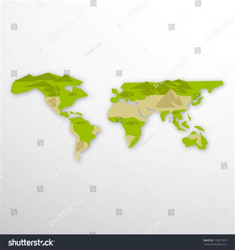 flat earth map illustration 178571033