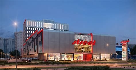 3d front elevation beautiful shopping mall store