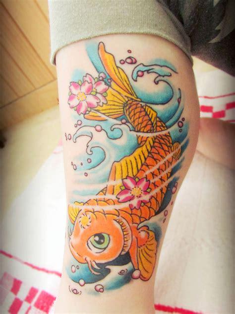 tattoo pez koi brazo tatuaje de carpa koi en el brazo tatuajesxd