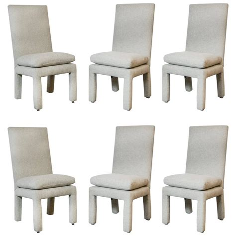 Parsons Dining Chairs On Sale Set Of Six Milo Baughman Parsons Dining Chairs For Sale At 1stdibs