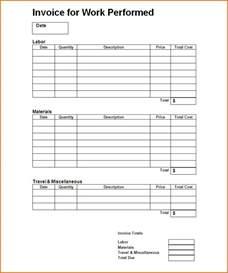 work invoice template 7 work invoice template authorizationletters org