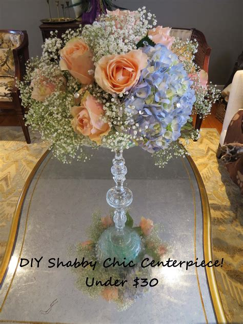 Shabby Chic Wedding Centerpiece Under 30 Youtube How To Make Floral Wedding Centerpieces