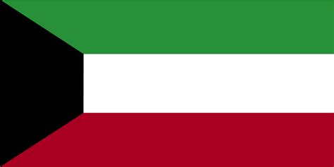 flags of the world green white red flag of kuwait 2009 clipart etc
