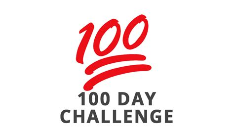 100 day challenge review 100 day challenge begins now