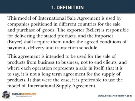 international sales agreement template international sale agreement template