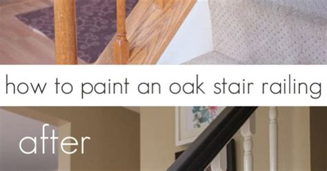 how to paint stair banisters how to paint an oak stair railing black and white house