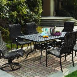 resin wicker patio dining sets darlee 7 resin wicker patio dining set