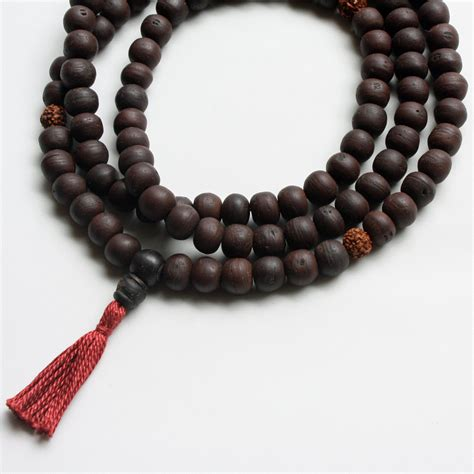 how to make buddhist mala bodhiseed mala prayer bead necklace with rudraksha markers