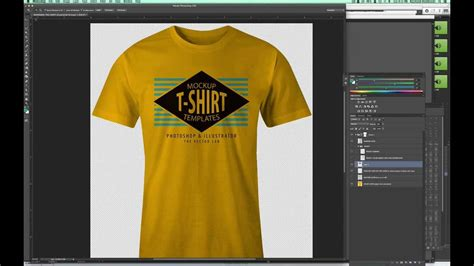 how to make a layout design for tshirt mockup a t shirt design in photoshop so it looks real