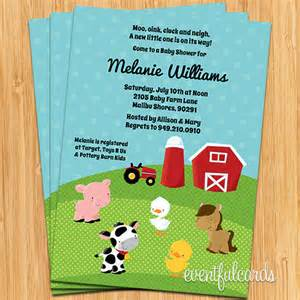 barnyard animals baby shower invitation by eventfulcards catch my