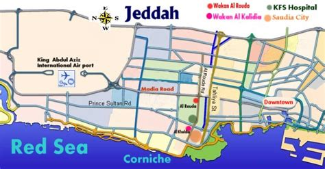 printable jeddah road map jeddah
