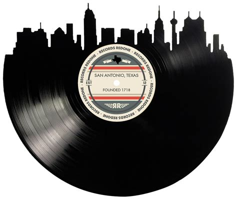 San Antonio Records San Antonio Skyline Records Redone Label Vinyl Record