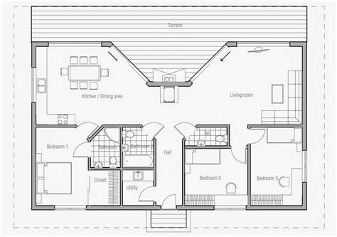 Small Beach House Floor Plans | ch61 small beach house plan beach house plans