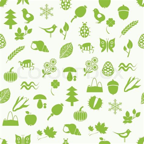 nature pattern vector nature seamless pattern stock vector colourbox