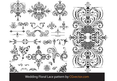 pattern lace vector wedding floral lace pattern vector download free vector